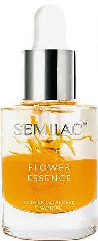 Защитно масло за нокти и кожички с масло от прасковени ядки - Semilac Flower Essence Orange Strength