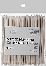 Парфюмерия и Козметика Дървени пръчици за избутване на кожички, 100 бр - Charmine Rose
