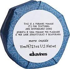 Парфюмерия и Козметика Оформящо червило за коса - Davines More Inside This is a Forming Pomade