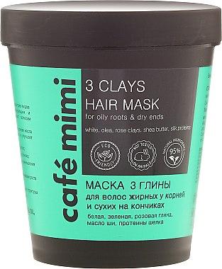 "Маска за коса "" 3 Глини"" - Cafe Mimi Mask"