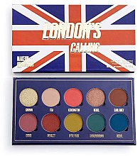 Парфюмерия и Козметика Палитра сенки за очи, 10 цвята - Makeup Obsession London's Calling Eyeshadow Palette