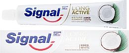 Парфюмерия и Козметика Избелваща паста за зъби - Signal Long Active Nature Elements Coco White