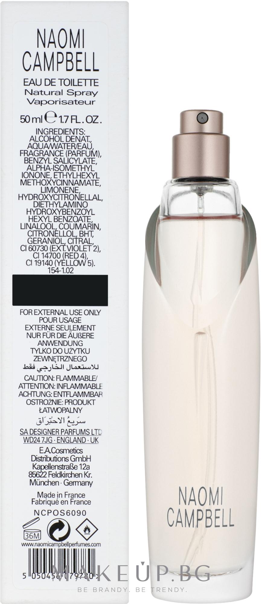 Naomi Campbell Naomi Campbell - Тоалетна вода (тестер без капачка)  — снимка 50 ml