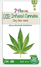 Парфюмерия и Козметика Глинена маска за лице с конопено масло - 7th Heaven CBD Infused Cannabis Clay Face Mask