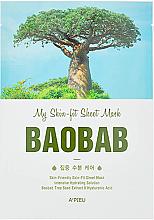 Парфюмерия и Козметика Интензивно хидратираща памучна маска за лице с екстракт от баобаб - A'Pieu My Skin-Fit Sheet Mask Baobab