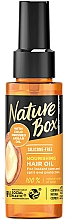 Парфюмерия и Козметика Подхранващо масло за коса - Nature Box Argan Oil Nourishing Hair Oil