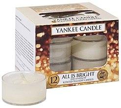 Парфюми, Парфюмерия, козметика Чаени свещин - Yankee Candle Scented Tea Light Candles All is Bright