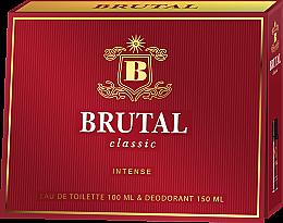Парфюми, Парфюмерия, козметика La Rive Brutal Classic Intense - Комплект (ash/lot/100ml + deo/150ml)