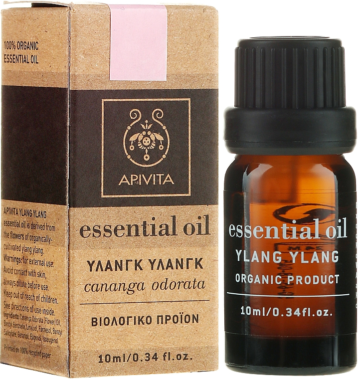 "Етерично масло ""Иланг-иланг"" - Apivita Aromatherapy Organic Ylang-Ylang Oil  — снимка N1"