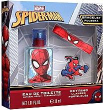 Парфюми, Парфюмерия, козметика Marvel Spiderman - Детски комплект (edt/30ml + keyring + bracelet)
