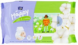 """Парфюмерия и Козметика Мокри кърпички """"Коприна и памук"""" - Bella Baby Happy Silk & Cotton"""