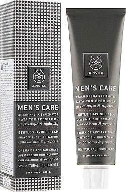 Делекатен крем за бръснене със звъника и прополис - Apivita Men Men's Care Gentle Shaving Cream With Hypericum & Propolis — снимка N1