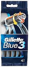 Парфюмерия и Козметика Комплект самобръсначки, 4бр - Gillette Blue 3