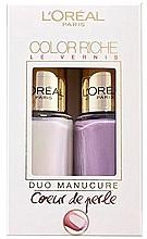 Парфюмерия и Козметика Комплект лакове за нокти - L'Oreal Paris Color Riche Nail Polish (nail/polish/2x5ml)