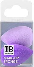 Парфюмерия и Козметика Мини гъби за грим, 2 бр - Tools For Beauty Mini Concealer Makeup Sponge Purple