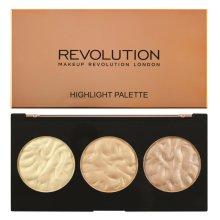 Парфюми, Парфюмерия, козметика Палитра озаряващ руж за лице - Makeup Revolution Highlighter Palette