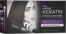 Парфюмерия и Козметика Комплект за коса - Kativa Keratin (шампоан/35ml + балсам/35ml + маска/100ml)