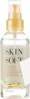 Масло-спрей за тяло с блестящ ефект - Avon Skin So Soft Enhance&Glow Shimmering Oil Spray