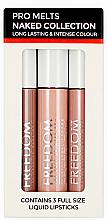 Парфюми, Парфюмерия, козметика Комплект с течни червила - Freedom Pro Melts Naked Collection Liquid Lipstick