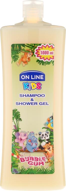 "Шампоан-душ гел за деца ""Дъвка"" - On Line Kids Shampoo & Body Wash Bubble Gum"