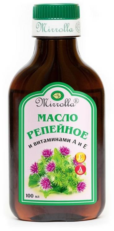 Репейно масло с витамин А и Е - Mirrolla