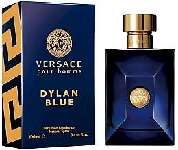 Парфюмерия и Козметика Дезодорант спрей - Versace Pour Homme Dylan Blue