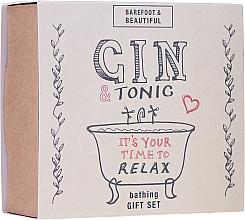 Парфюмерия и Козметика Комплект - Bath House Barefoot & Beautiful Gin and Tonic Bathing Gift Set (lip/balm/15g + bath/soak/60ml + bath/salt/60g)