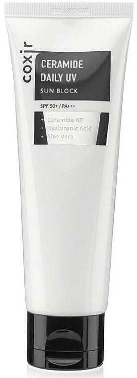 Лек слънцезащитен крем за лице - Coxir Ceramide Daily UV Sun Block