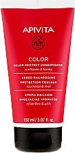 Парфюмерия и Козметика Балсам за защита на цвета на боядисана коса с мед и слънчоглед - Apivita Color Protect Conditioner With Sunflower & Honey