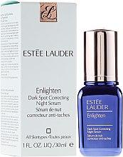 Парфюмерия и Козметика Нощен балансиращ серум за лице - Estee Lauder Enlighten Dark Spot Correcting Night Serum