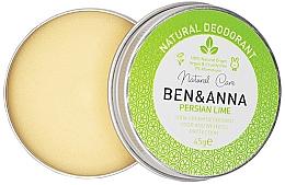 Парфюмерия и Козметика Натурален кремообразен дезодорант - Ben & Anna Persian Lime Soda Cream Deodorant