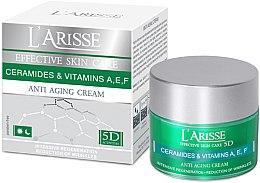 Парфюми, Парфюмерия, козметика Крем против бръчки с церамиди и витамини A, E, F 40+ - Ava Laboratorium L'Arisse 5D Anti-Wrinkle Cream Ceramides + Vitamines