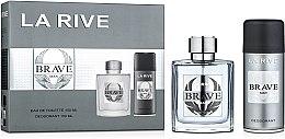 Парфюми, Парфюмерия, козметика La Rive Brave Man - Комплект (тоал.вода/100ml + дезод./150ml)