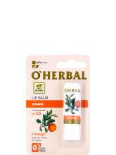 Парфюми, Парфюмерия, козметика Витаминен балсам за устни - O'Herbal Vitamin Lip Balm Wwith Orange Oil SPF15