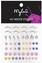 """Парфюмерия и Козметика Стикери за маникюр """"Цветя"""" - MylaQ My My Flower Sticker"""