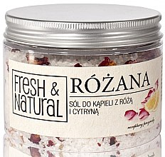 Парфюми, Парфюмерия, козметика Соли за вана с роза и лимон - Fresh&Natural