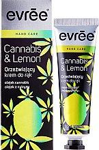 Парфюми, Парфюмерия, козметика Освежаващ крем за ръце - Evree Cannabis & Lemon Hand Cream