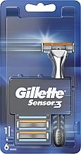 Парфюмерия и Козметика Самобръсначка с 6 сменяеми ножчета - Gillette Sensor 3