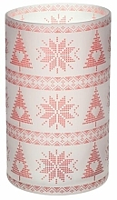 Парфюмерия и Козметика Свещник - Yankee Candle Red Nordic Frosted Glass Jar Sleeve