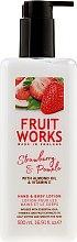 Парфюмерия и Козметика Лосион за ръце и тяло - Grace Cole Fruit Works Hand & Body Lotion Strawberry & Pomelo