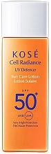 Парфюмерия и Козметика Слънцезащитен лосион SPF 50 - KOSE Cell Radiance UV Defencer Sun Care Lotion SPF 50
