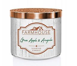 Парфюмерия и Козметика Парфюмна свещ с аромат на ябълка и рукола - Kringle Candle Farmhouse Green Apple Arugula