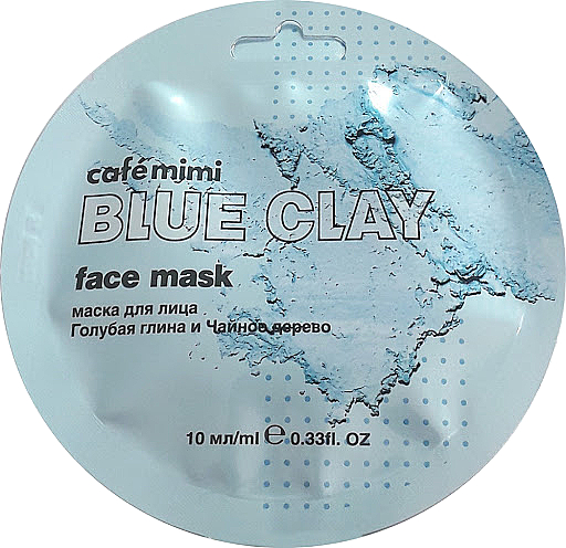 Маска за лице със синя глина и чаено дърво - Cafe Mimi Blue Clay Face Mask