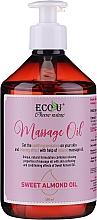Парфюмерия и Козметика Масажно масло от сладък бадем - Eco U Massage Oil Sweet Almond Oil