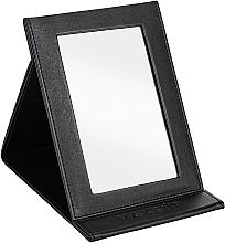 Парфюмерия и Козметика Сгъваемо козметично огледало, черно - MakeUp Tabletop Cosmetic Mirror Black