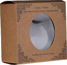 Парфюмерия и Козметика Натурална гъба конджак за лице, сърце - Lash Brow Konjac Sponge