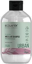 Парфюмерия и Козметика Мицеларен шампоан за чувствителен скалп с алое вера и върбинка - Ecolatier Urban Micellar Shampoo
