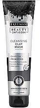 Парфюмерия и Козметика Почистваща маска за лице с активен въглен и пробиотици - Freeman Beauty Infusion Cleansing Clay Mask Charcoal & Probiotics