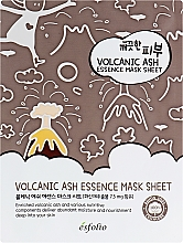 Парфюмерия и Козметика Памучна маска за лице с вулканична пепел - Esfolio Pure Skin Volcanic Ash Essence Mask Sheet