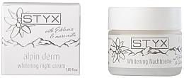 Парфюмерия и Козметика Избелващ нощен крем за лице - Styx Naturcosmetic Alpin Derm Whitening Night Cream